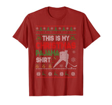 Load image into Gallery viewer, This Is My Christmas Pajama Shirt Funny Hockey Sweater Gift T-Shirt