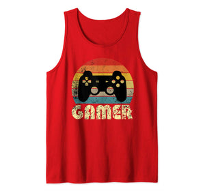 Vintage Retro Gamer Video Game Player Boys Teens Men Gift Tank Top