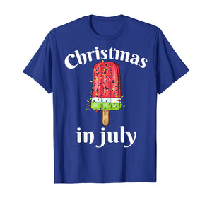 Christmas In July Shirt Ice cream Christmas Tree Summer Gift T-Shirt