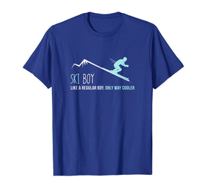 Ski Boy Shirt, Funny Cute Winter Skiing Gift