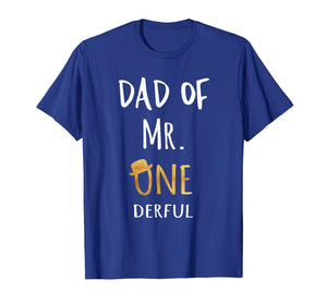 Mens Dad of MR. Onederful Wonderful Funny 1st birthday boy outfit