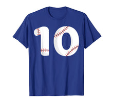 Load image into Gallery viewer, Number #10 BASEBALL Team Shirt - 10 Pitcher Batter Tee