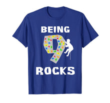 Load image into Gallery viewer, Being 9 Years Old Rocks Funny Rock Climber Birthday T Shirt
