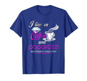 i live on coffee and paparazzi independent consultant shirt