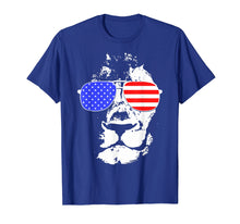 Load image into Gallery viewer, Tee Shirts Eyes Catching Lion American Flag