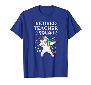 Retired Teachers Squad Dabbing Unicorn Teachers Retirement T-Shirt