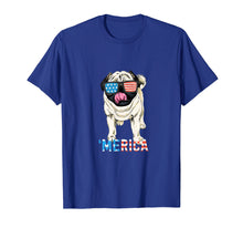 Load image into Gallery viewer, 4th July Shirt Gift Men Women Kids Merica Pug USA Flag Tee