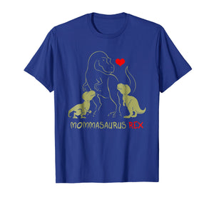Mommasaurus Shirt T rex Mama I happy have two kid shirt gift