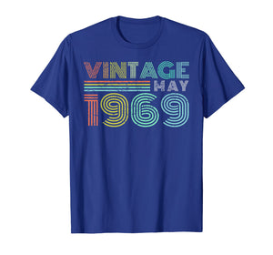 50th Birthday Gift Vintage May 1969 Fifty Years Old T-Shirt