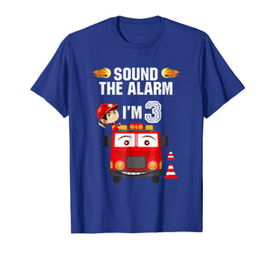 Birthday Boy Shirt for 3 Year Old - 3rd Sound the Alarm