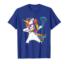 Load image into Gallery viewer, Dabbing Unicorn Lacrosse T Shirt Kids Funny Dab Dance Gift
