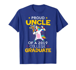 Proud Uncle Of A 2019 College Graduate T-Shirt Unicorn Dab