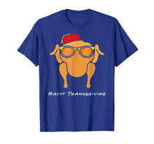 Load image into Gallery viewer, Turkey Head Happy Thanksgiving Glasses red Hat Monica T-Shirt