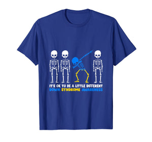 Down Syndrome Skeleton costume halloween Gifts trisomy Tee T-Shirt