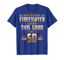 Load image into Gallery viewer, Firefighter 50th Birthday Gift T-Shirt
