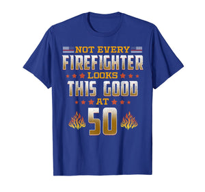 Firefighter 50th Birthday Gift T-Shirt