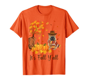It's Fall Y'all Shar Pei Pumpkin Fall Autumn Thanksgiving T-Shirt