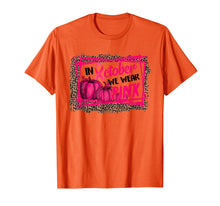 Load image into Gallery viewer, Leopard In October We Wear Pink Thanksgiving Breast Cancer T-Shirt