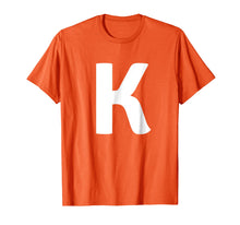 Load image into Gallery viewer, Letter K Uppercase Alphabet T-Shirt