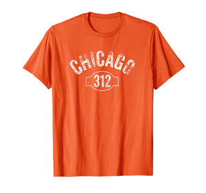 Chicago 312 Area Code T-Shirt Distressed Vintage Tee