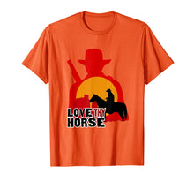 Load image into Gallery viewer, Red Horse Sunset T Shirt - LOVE THY HORSE Cowboy Gift
