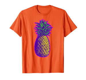 Colorful Pineapple Vintage Illustration T-Shirt