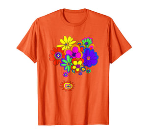 60s & 70s Retro Flower Power T Shirt