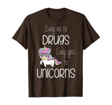 Load image into Gallery viewer, Kids Say No Say Yes To Unicorns Youth Red Ribbon Week T-Shirt