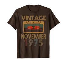 Load image into Gallery viewer, Vintage Retro Mixtape 44th Birthday Gift November 1975 T-Shirt