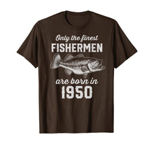 Load image into Gallery viewer, Gift for 70 Year Old: Fishing Fisherman 1950 70th Birthday T-Shirt