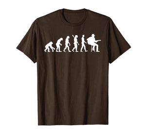 Acoustic Guitar Evolution T-Shirt Funny Orchestra Cool Gift