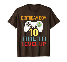 Load image into Gallery viewer, Kids Level 10 Unlocked T-Shirt 10th Video Gamer Birthday Gif