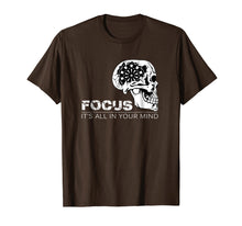 Load image into Gallery viewer, Focus It's All In Your Mind Darts T Shirt Dart Player Gift