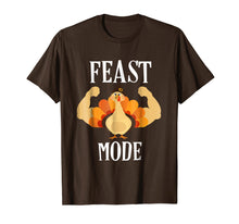 Load image into Gallery viewer, Feast Mode Shirt Funny Muscle Turkey Thanksgiving Shirt