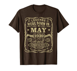 Legend Born May 1939 Shirt 80th Birthday 80 Year Old Gift