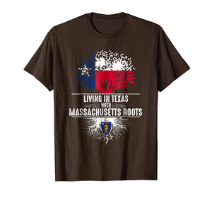 Texas Home Massachusetts Roots State Tree Flag Shirt Gift