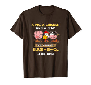 BBQ Joke T-Shirt Funny A Pig Cow Chicken Shirt