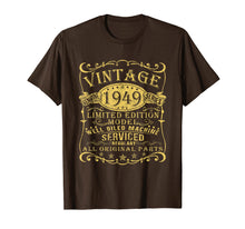 Load image into Gallery viewer, 1949 Vintage 70th Birthday All Original Parts Gift T Shirt