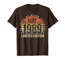 Load image into Gallery viewer, Born May 1989 Limited Edition T-Shirt 30th Birthday Gifts