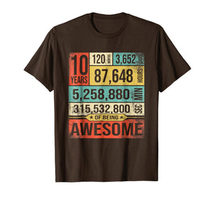Birthday Countdown 10th Years Old Being Awesome 2009 T-Shirt