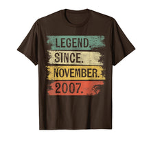 Load image into Gallery viewer, Legend Since November 2007 12 Year Old 12th Birthday Gifts T-Shirt