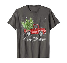 Load image into Gallery viewer, Vintage Red Truck With Merry Christmas Tree T-Shirt Gifts T-Shirt