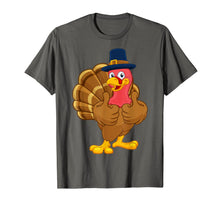 Load image into Gallery viewer, Turkey Pilgrim Hat Thanksgiving Cartoon Character T-Shirt