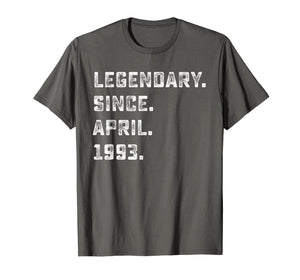 Legendary Since April 1993 26 Year Old 26th Birthday Shirt A