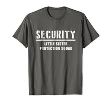Load image into Gallery viewer, Security Little Sister Protection Squad Big Brother T-Shirt