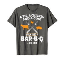 Load image into Gallery viewer, A Pig A Chicken And A Cow Funny BBQ T-Shirt BBQ Joke Shirt