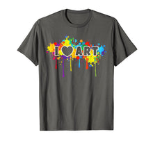 Load image into Gallery viewer, I Love Art T-Shirt Funny Colorful Painter Tee Gift