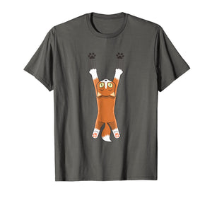 Creative Cat Printed T-shirts - kitten climbing on a tee