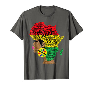 African American Woman With Afro Word Art Natural Hair Shirt