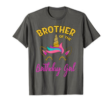 Load image into Gallery viewer, Brother of the Unicorn Birthday Girl T-Shirt Matching Shirt